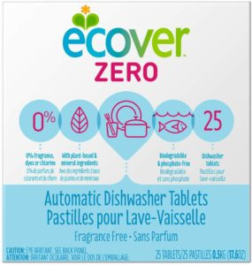 Ecover Automatic Dishwashing Tablets Zero