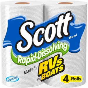 Amazon Brand Solimo 350 Sheets per Roll 2-Ply Toilet Paper