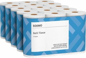 Solimo 350 Sheets per Roll 2-Ply Toilet Paper