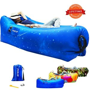 yeacar Inflatable Lounger Air Sofa, Portable Waterproof Indoor or Outdoor Inflatable Couch for Camping Park Hiking Travelling Picnics Pool Music Festivals...