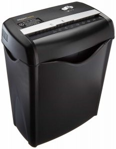 AmazonBasics 6-Sheet Paper Shredder