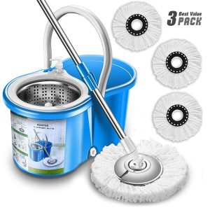 Aootek Stainless Steel Deluxe Mop and Bucket