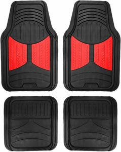 FH Group F11313RED Full Set Red Rubber Floor Mats