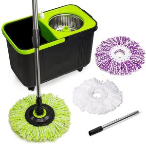 Cleaning Solutions 3 Microfiber Mop Head 79117 Stainless Steel Spin Mop