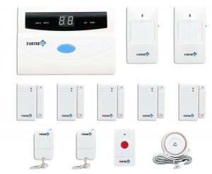 Fortress Security Store (TM) S02-A Wireless Home and Business Security Alarm System DIY Kit with Auto Dial, Motion Detectors, Panic Button and More for Complete Security