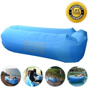 anglink Outdoor Inflatable Lounger Couch, Air Sofa Blow Up Lounge Chair with Carrying Bag for Travelling, Camping, Hiking, Park, Pool and Beach Parties by