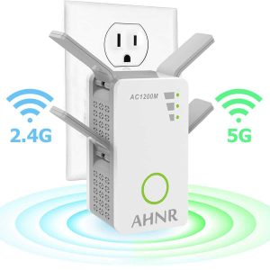 AHNR AC1200 Wireless Repeater Wi-Fi Range Extender