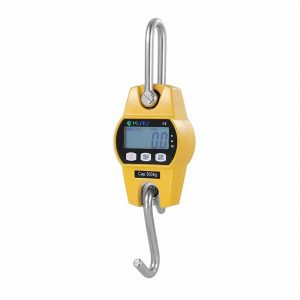 Crane Scale,Klau Mini Hoist 300 kg / 600 lb Industrial Heavy Duty Digital Hanging Scales Yellow for Home Farm Factory Hunting Outdoor