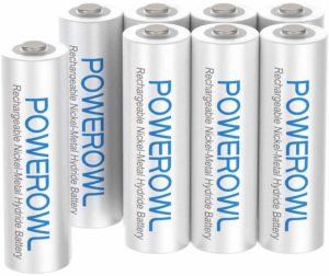 POWEROWL 1000mAh High Capacity AAA Rechargeable Batteries