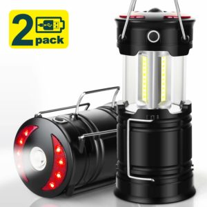 EZORKAS 2 Pack Rechargeable Hiking Camping Lanterns