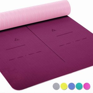 Heathyoga LIMITED TIME DEAL Non Slip, Eco-Friendly Yoga Mat