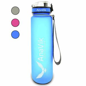 AnaVik 32 oz Sports Water Bottle