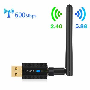 2. DIZA100 AC 600Mbps Wireless USB Wi-Fi Adapter
