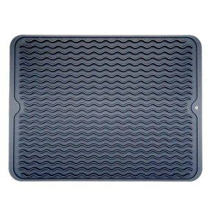 HOMWE Large Dish Silicone Drying Mat, Draining Mat For Kitchen Counter