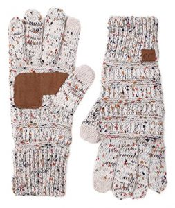 7. Funky Jacque's C.C Beanies Winter Knit Touchscreen Gloves