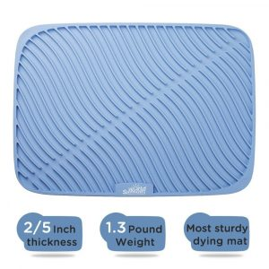 7. Samuel world Large Size Silicone Dish Drying Mat