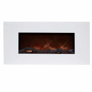 8. Northwest Electric Fireplace Wall Mounted,LED Flame and Remote