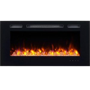 PuraFlame Recessed Electric Fireplace