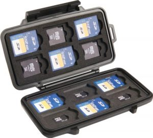 2. Pelican 0915 SD Memory Card Case, Black