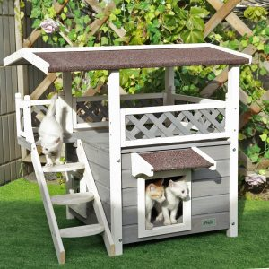 6. Petsfit, 2-Story Outdoor Weatherproof Cat House