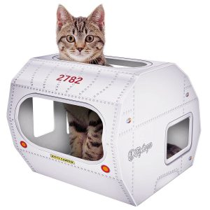 No 1 Rated – Cat Toys & Playhouse- Best Indoor Cardboard Cat House & Toy