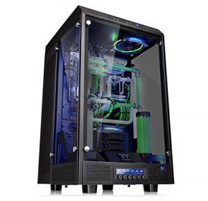 Thermaltake Tower 900 Black Edition Tempered Glass Fully Modular E-ATX Vertical Super Tower Computer Chassis CA-1H1-00F1WN-00