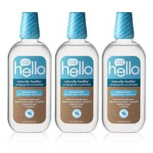 Hello Oral Care Naturally Fluoride Free Healthy SLS Free Mouthwash
