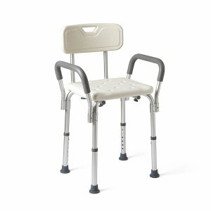 Medline MDS89745RA Shower Chair with Padded Armrests