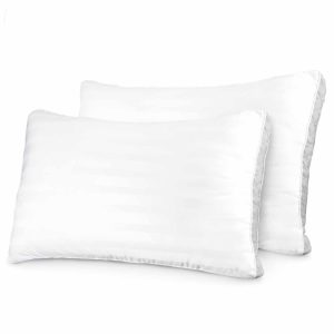 Sleep Restoration 1500 Series Gusset Gel Pillow Plush Cooling Gel Fiber - Hypoallergenic & Dust Mite Resistant (2 Pack Queen)
