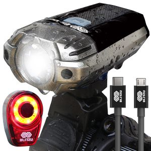 BLITZU Gator 390 USB Rechargeable LED Bike Light Set