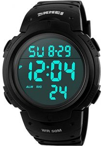 CakCity Men's Sports Watch LED, Digital Screen