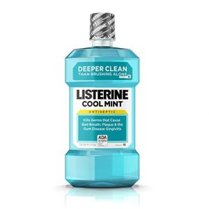 Cool Mint Listerine Antiseptic Mouthwash, Oral Care And Breath Freshener, 1.5 L