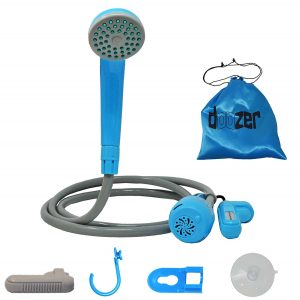 HeroFiber Portable camping Shower + Spare Battery