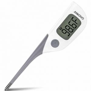 ANKOVO Medical Digital Thermometer Oral Rectal And Armpit for Baby Fast 8 Seconds Reading Waterproof with Fever Indicator FDA and CE Approved