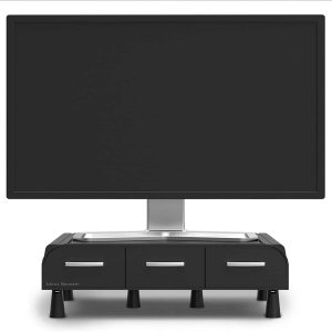 Mind Reader ' Perch' Pc Laptop IMac Monitor Stand And Desk Organizer, Black