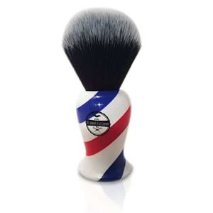 HAIRCUT AND SHAVE CO. Proven Synthetic Shaving Brush - 100% Synthetic Materials - 24mm Extra Dense Knot And 54mm Loft - Fast Drying Pre-Shave Brush perfect for home and travel
