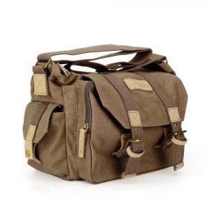 Caden Vintage Waterproof Canvas DSLR Shockproof camera bag, Canon Sony Nikon