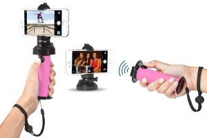 Grip Dat 3 in 1 Ultimate Selfie Stick with Bluetooth Remote