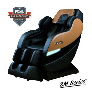 Kahuna Massage Chair MASSAGE CHAIR KAHUNA SUPERIOR WITH 6 ROLLERS and NEW SL-TRACK,(Coffee Brown)