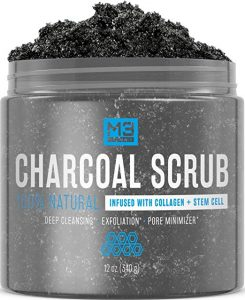 M3 Naturals Activated Face Skin Care Charcoal Scrub