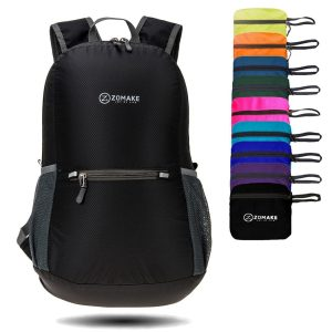 ZOMAKE Packable Backpack Ultra Lightweight Water Resistant, Small Backpack Hiking Daypack Little Bag