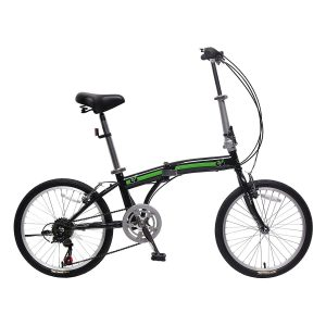 IDS Home Unyousual Folding City Bike U Arc 6 Speed with Steel Frame Shimano Gear