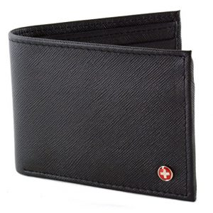 Alpine Swiss Men's Leather Flip-out ID Wallet