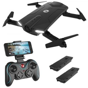 Holy Stone HS160 Shadow FPV RC Drone, 720P HD Wi-Fi Camera, 2.4GHz 6-Axis Gyro Quadcopter for Kids & Beginners
