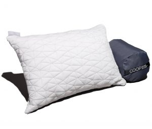 Coop Home Goods Camping Pillow with Bamboo Derived Viscose Rayon Cover