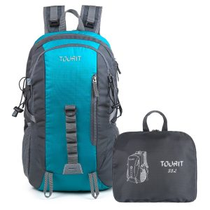 TOURIT Light Backpack Packable Foldable Travel Hiking Daypack Waterproof Back Packs used for Outdoor Hiking