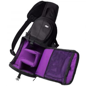 Qipi waterproof Camera Backpack with Rain Cover, Sling Bag Style