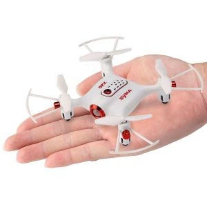 DoDoeleph Newest Syma X20 Mini Pocket Drone 2.4Ghz Nano LED RC Quadcopter