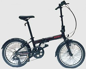 EuroMini ZiZZO 26lb Folding Bike, Lightweight Aluminum