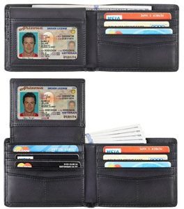 Travelambo Genuine Leather RFID Blocking Wallets Men's Wallet